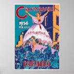 Carnaval de 1936, Feb. 22-25, Panama Poster