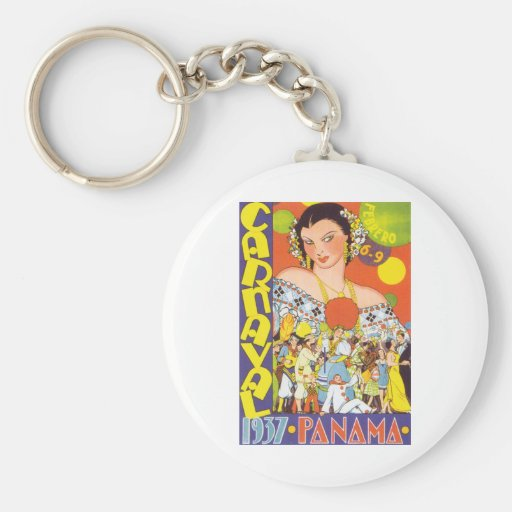 Carnaval in Panama Key Chains