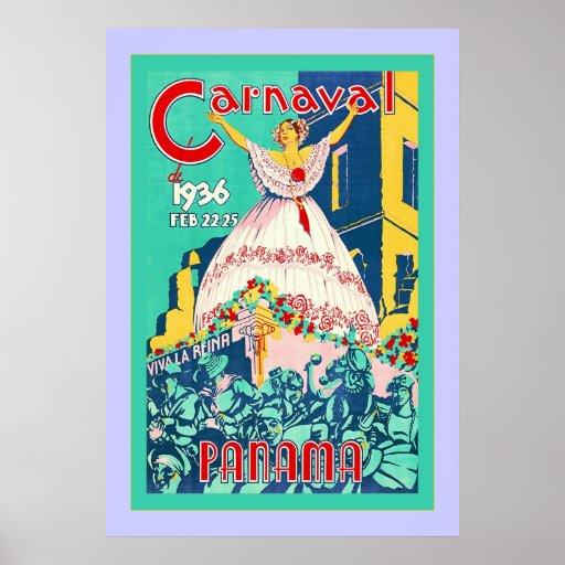 Carnaval ~ Panama ~ Vintage Travel Poster
