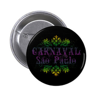 Carnaval Sao Paulo Pinback Buttons