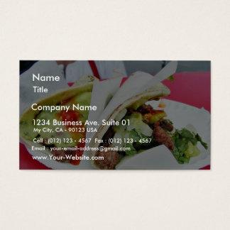 Carne Asada Tacos Guacamole Business Card
