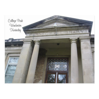 Carnegie Library, College Park, WinchesterKentucky Postcard