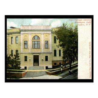 Carnegie Library, Yonkers, NY 1906 Vintage Postcard