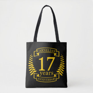 Carnelian Gemstone wedding anniversary 17 years Tote Bag