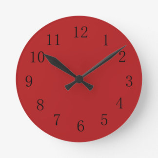 Carnelian Red Kitchen Wall Clock