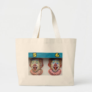 Carney Clowns Large Tote Bag