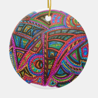 CARNIVAL ABSTRACT ROUND CERAMIC DECORATION