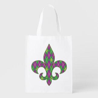 Carnival Argyle Reusable Grocery Bag