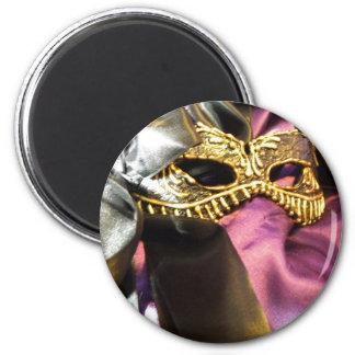 Carnival Black 6 Cm Round Magnet