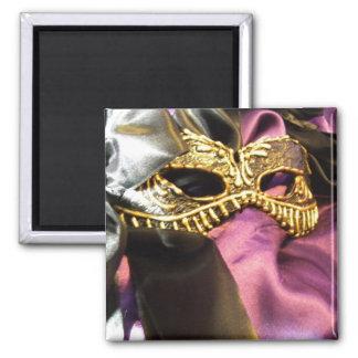 Carnival Black Square Magnet