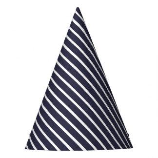 Carnival Blue Diagonal Stripe Party Hat