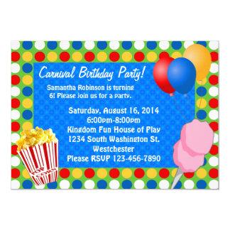 Carnival Bright Lights Custom Invitations
