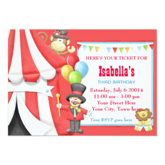 Carnival Circus Birthday Party Invitation