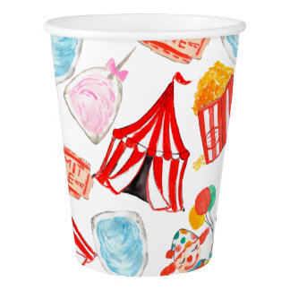 Carnival circus cute birthday paper cup