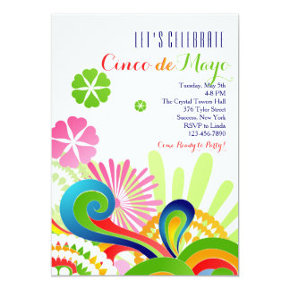 Carnival Colors Cinco de Mayo Invitation