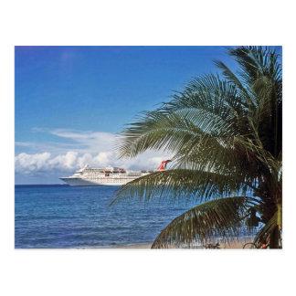 Carnival cruise ship docked at Grand Cayman Postcard