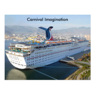 Carnival Cruise Ship Post Card