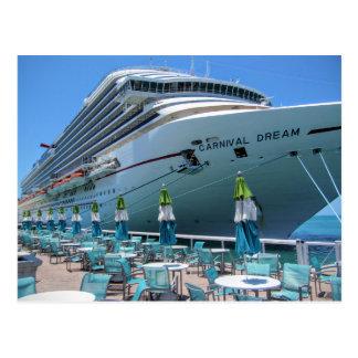 Carnival Dream in Key West Postcard