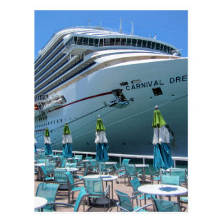 Carnival Dream in Key West Postcard