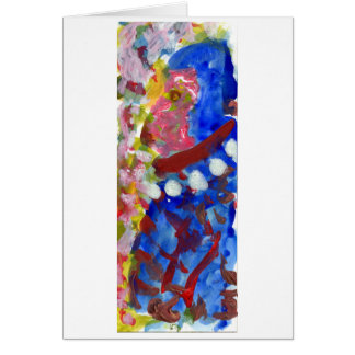 Carnival figure note card