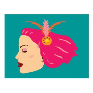 Carnival Girl Postcard