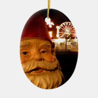 Carnival Gnome Ceramic Oval Decoration