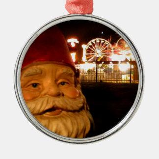 Carnival Gnome Silver-Colored Round Decoration