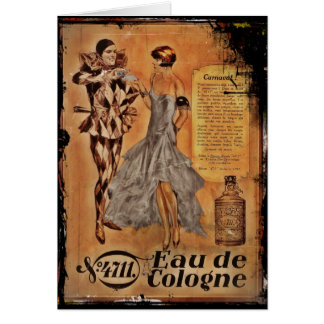 Carnival Harlequin and Flapper (cologne) Greeting Card