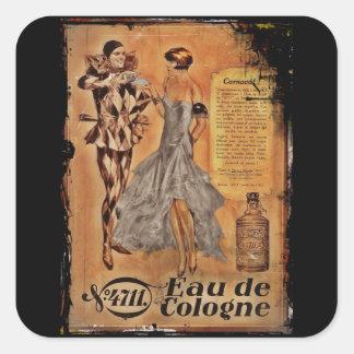 Carnival Harlequin and Flapper (cologne) Square Sticker