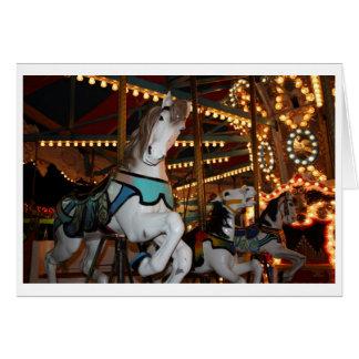 Carnival Horse Blank Card