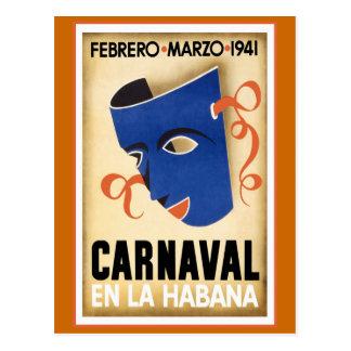 Carnival in Havana Vintage Travel Postcard