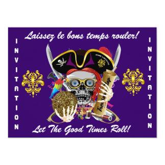 Carnival Mardi Gras  Event  Please View Notes 17 Cm X 22 Cm Invitation Card
