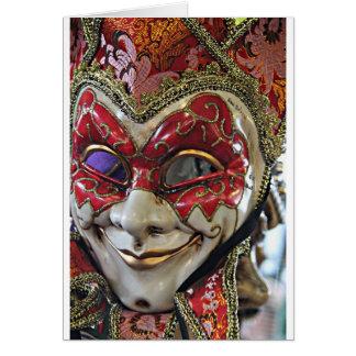 Carnival Mask Design Card