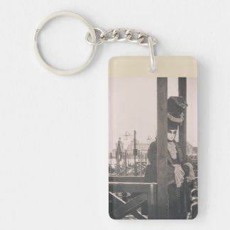 Carnival mask in Venice Double-Sided Rectangular Acrylic Key Ring