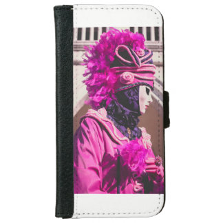Carnival mask in Venice iPhone 6 Wallet Case