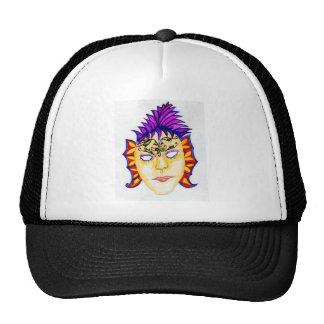 Carnival Mask Watercolor 2 Cap