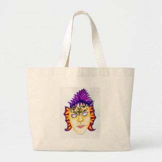 Carnival Mask Watercolor 2 Large Tote Bag