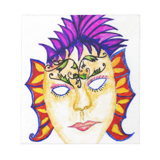 Carnival Mask Watercolor 2 Notepad