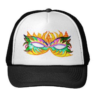 Carnival Mask Watercolor Cap