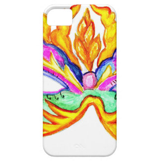 Carnival Mask Watercolor iPhone 5 Case