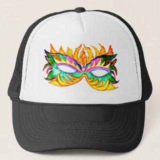 Carnival Mask Watercolor Trucker Hat
