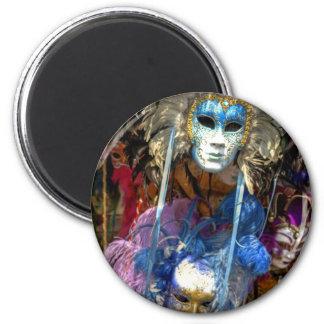 Carnival Masks 6 Cm Round Magnet