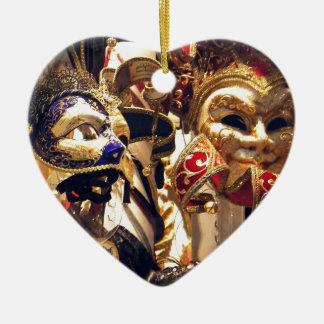Carnival Masks from Venice Ceramic Heart Decoration