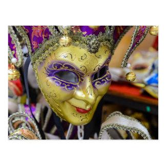 Carnival Masks in Venice Italy Postcard