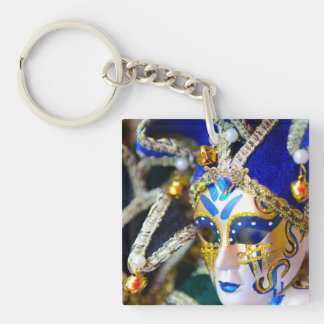 Carnival Masks in Venice Italy Single-Sided Square Acrylic Key Ring