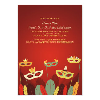 Carnival Masks Invitation