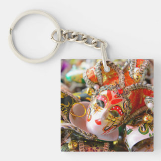 Carnival Masquerade Masks in Venice Italy Key Ring