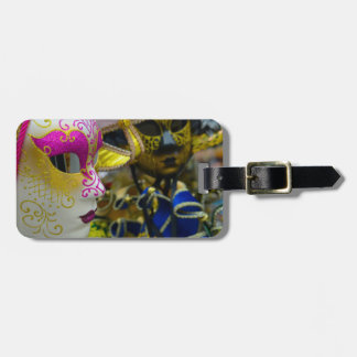 Carnival Masquerade Masks in Venice Italy Luggage Tag