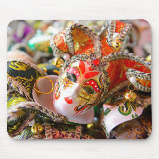 Carnival Masquerade Masks in Venice Italy Mouse Pad