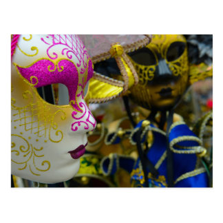 Carnival Masquerade Masks in Venice Italy Postcard